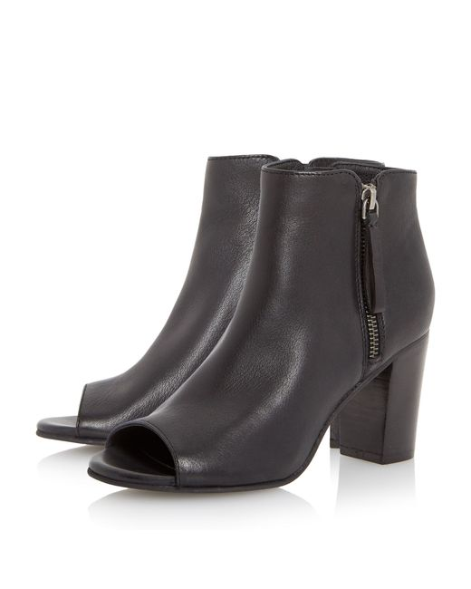 Dune | Black Jaspa Peep Toe Heeled Shoes Boots | Lyst