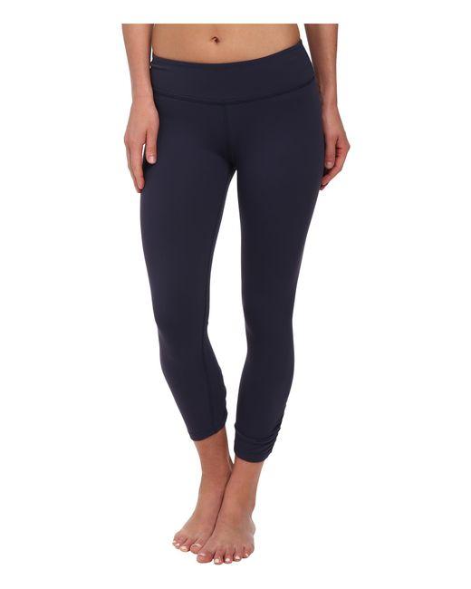 Beyond Yoga   Blue Back Gather Legging   Lyst