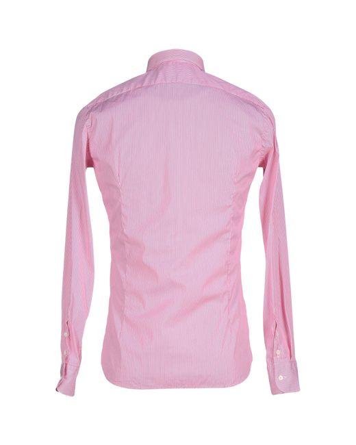Aglini   Purple Shirt for Men   Lyst