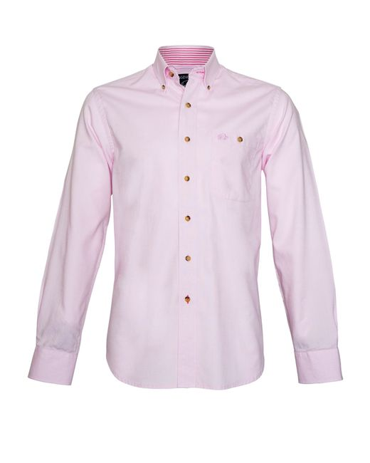Raging Bull | Pink Plain Long Sleeve Button Down Shirt for Men | Lyst