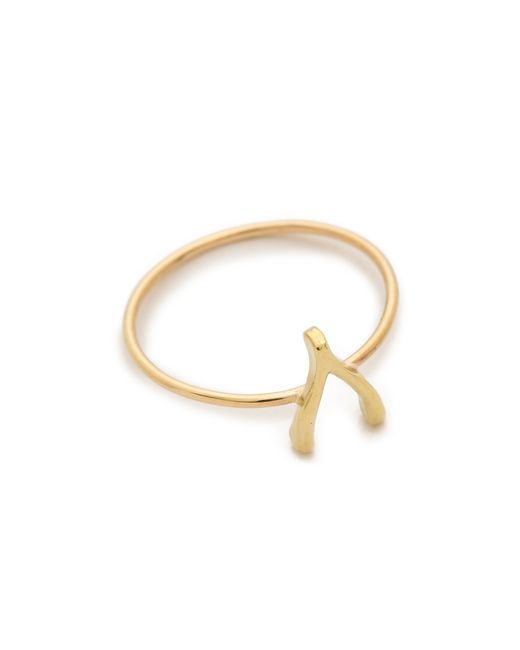 Jennifer Meyer | Metallic Mini Wishbone Ring | Lyst