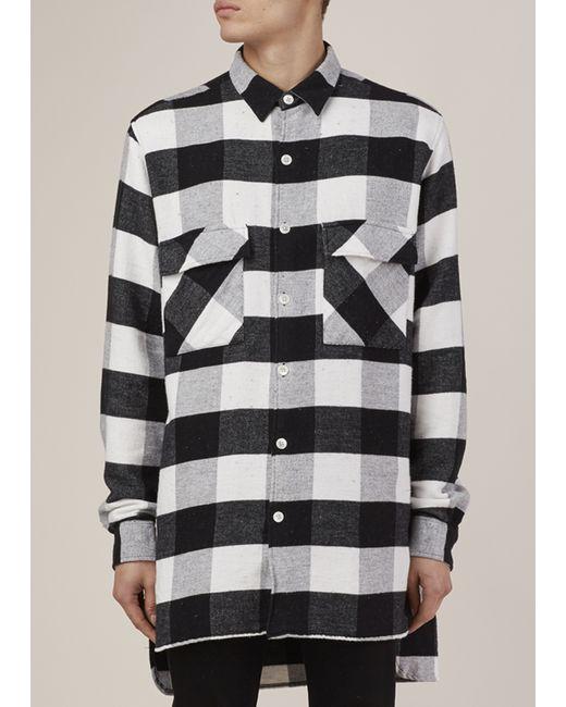 Our legacy black white flannel plaid 2 pocket shirt coat for Black watch plaid flannel shirt