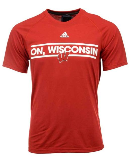 Adidas originals men 39 s wisconsin badgers dassler local t for Mens wisconsin badger shirts