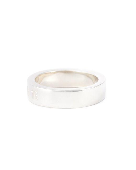 Maison Margiela | Metallic Logo Stamp Ring | Lyst