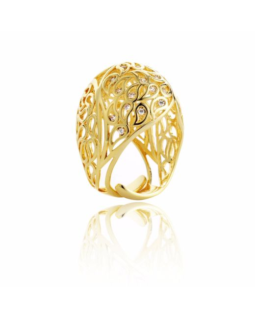 Sonal Bhaskaran - Metallic Shikhara Gold Dome Ring Clear Cz - Lyst