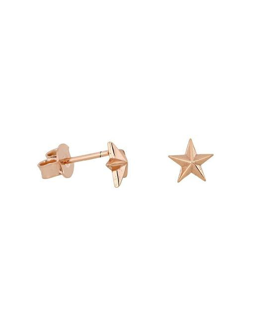 Azendi | Metallic Rose Gold Vermeil Star Stud Earrings | Lyst
