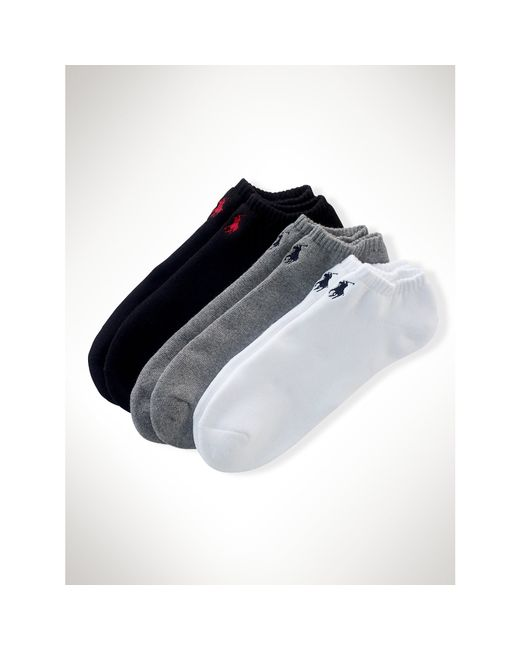 Polo Ralph Lauren | Black Low-profile-sock 3-pack | Lyst