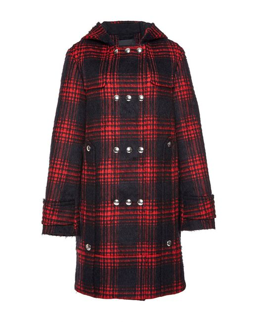 Alexander wang Buffalo Cotton-blend Duffle Coat in Red - Save 59 ...