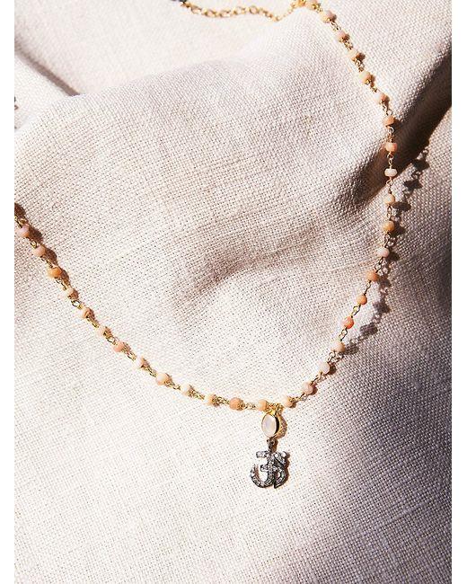 Free People   Metallic Diamond Drop Choker   Lyst