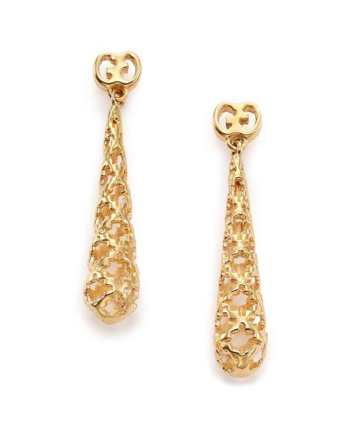 Gucci | Metallic Diamantissima 18k Yellow Gold Teardrop Earrings | Lyst