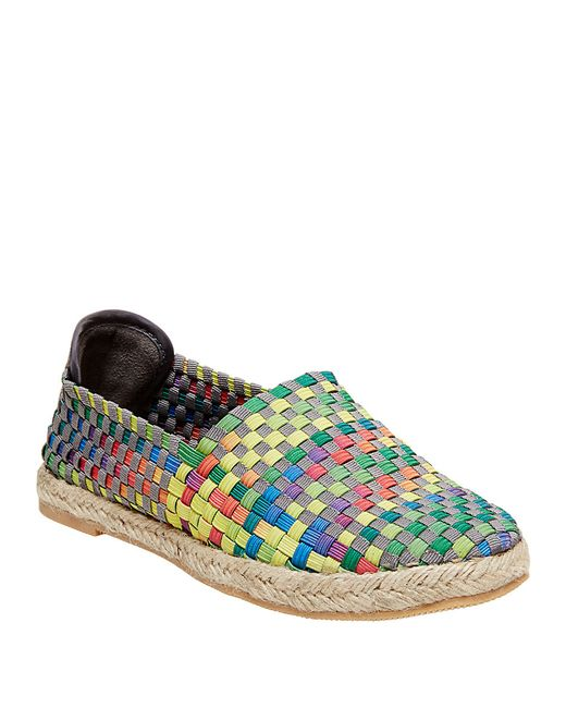 Steven by Steve Madden | Green Frenzi Stretch Woven Flats | Lyst