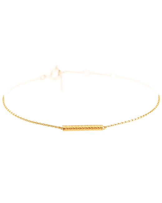 Dutch Basics | Metallic Cylinder Fine Chain Bracelet Gold | Lyst