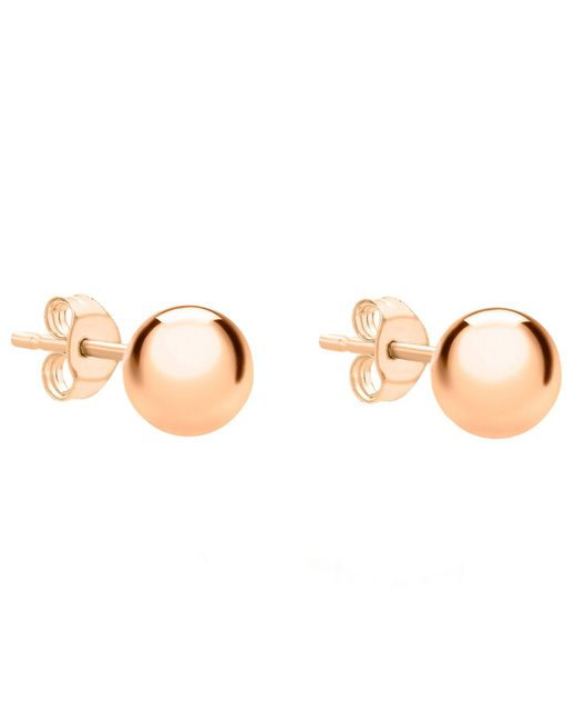 Ib&b | Pink 18ct Gold Ball Stud Earrings | Lyst
