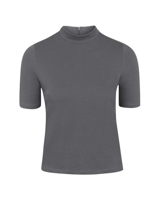 TOPSHOP   Gray Clean Funnel Top   Lyst
