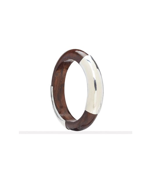 Pink Pony | Brown Wooden Bangle | Lyst