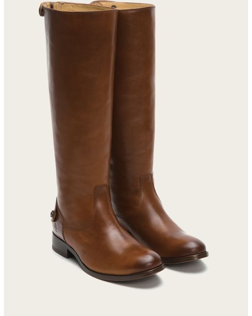 Frye | Brown Melissa Button Back Zip | Lyst