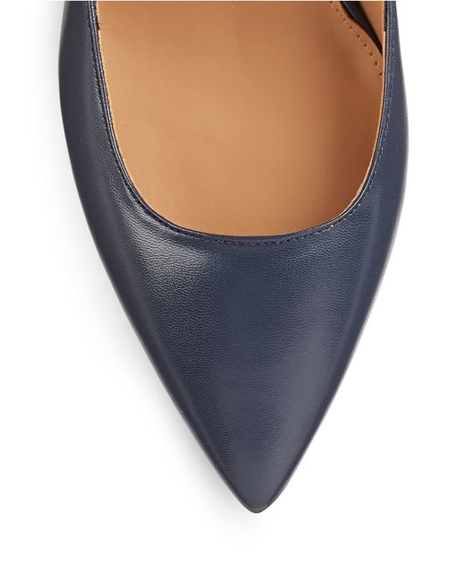 Calvin Klein | Blue Patna Leather Pumps | Lyst