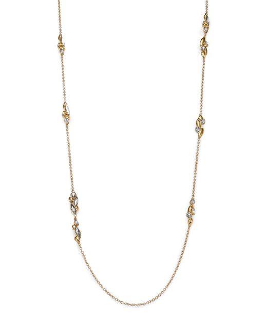 Alexis Bittar | Metallic Miss Havisham Liquid Crystal Broken Glass Cluster Station Necklace/goldtone | Lyst