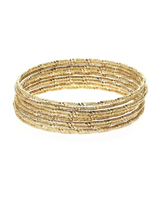 Natasha Gold-Tone Stacked Bracelet Set in Gold - Save 50% ...