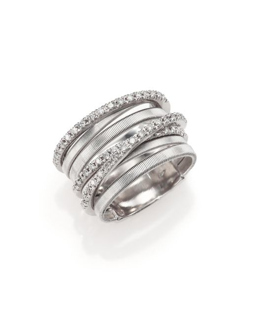 Marco Bicego | Goa Diamond & 18k White Gold Seven-strand Ring | Lyst