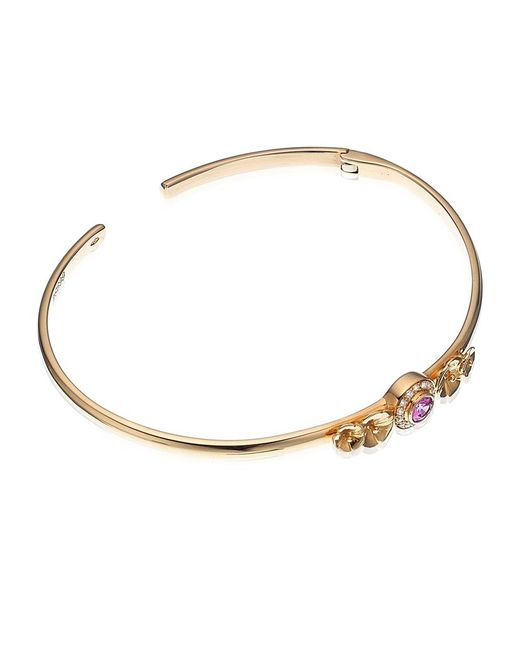 Theo Fennell | Pink Sapphire Hibiscus Blossom Tryst Bangle | Lyst
