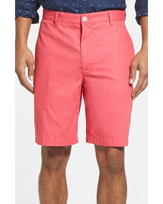 Vineyard Vines | Red 'summer' 9 Inch Flat Front Twill Shorts for Men | Lyst