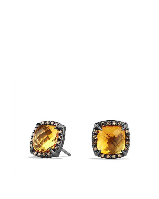 David Yurman | Yellow Chatelaine Stud Earrings With Citrine And Cognac Diamonds | Lyst