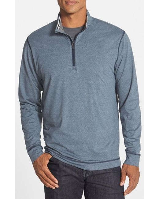 Cutter & Buck | Blue 'topspin' Drytec Half Zip Pullover for Men | Lyst