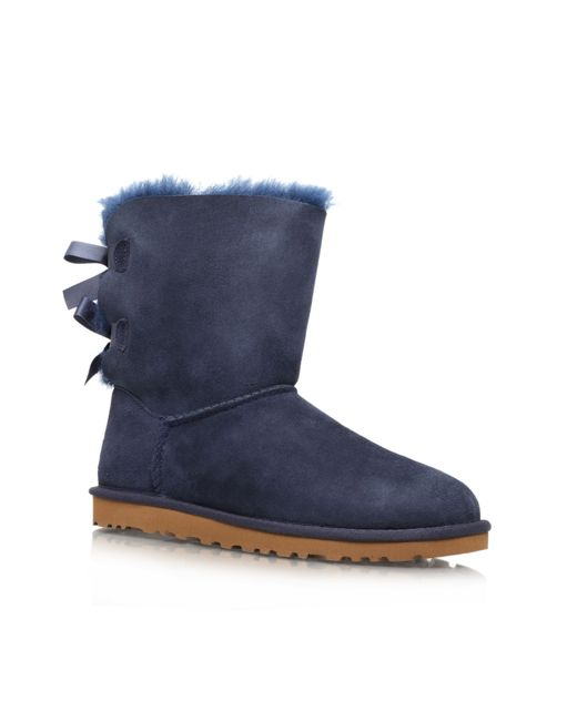 UGG | Blue Ugg 'bailey Bow Ii' Boot | Lyst