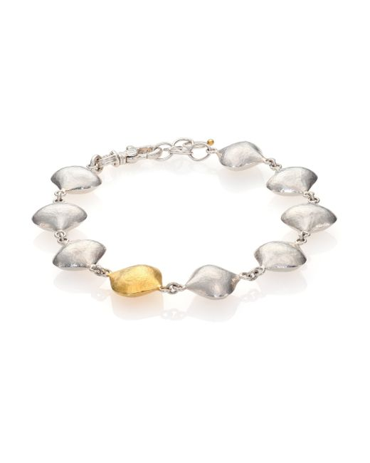 Gurhan | Metallic Cielo 24k Yellow Gold & Sterling Silver All-around Bracelet | Lyst