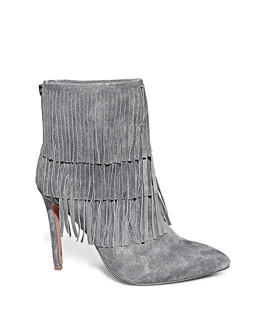 Steve Madden | Gray Aces Belt And Hardware Ankle Boots | Lyst