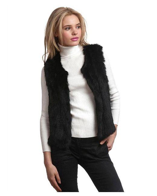 525 America | Black Rabbit Fur Vest | Lyst