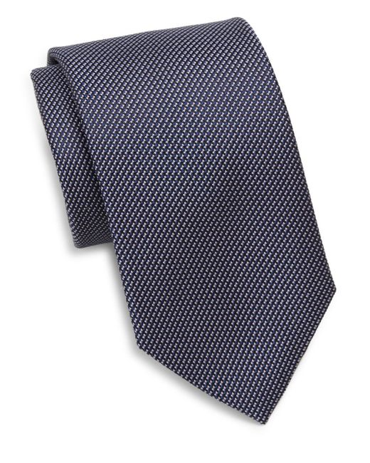Saks Fifth Avenue | Blue Silk Textured Tie for Men | Lyst