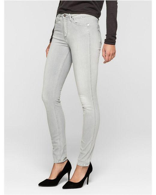 Light gray skinny jeans