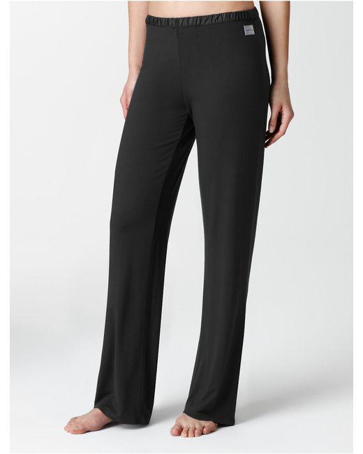 CALVIN KLEIN 205W39NYC - Black Underwear Essentials Satin Trim Lounge Pants - Lyst