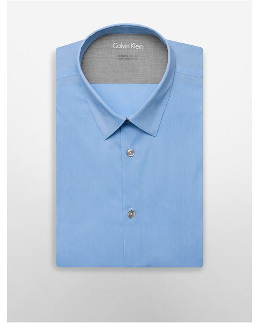 Calvin Klein | Blue X Fit Ultra Slim Fit Solid Dress Shirt for Men | Lyst