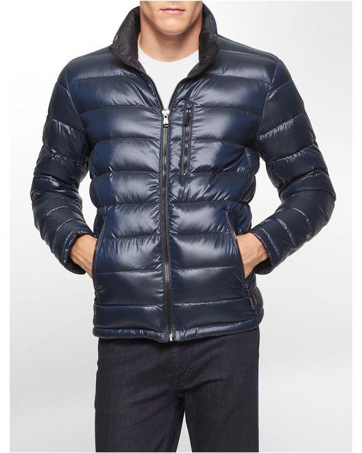 Calvin Klein   Blue Packable Down Jacket   Lyst