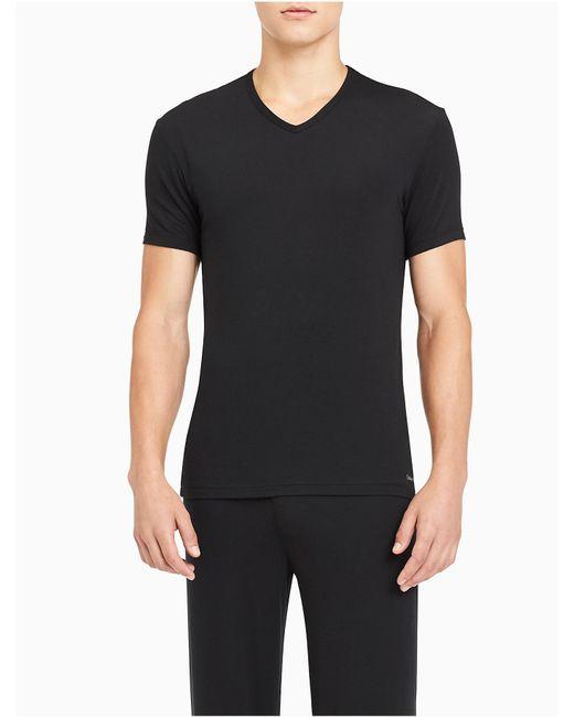 Calvin Klein - Black Modern Modal V-neck T-shirt for Men - Lyst