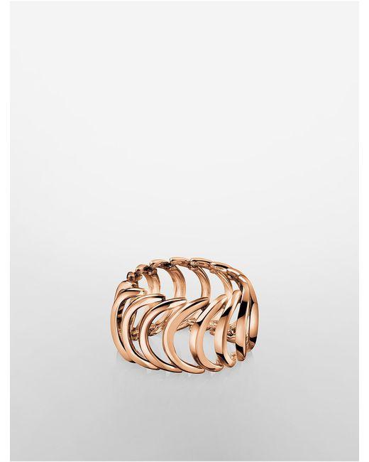 CALVIN KLEIN 205W39NYC - Pink Platinum Body Rose Gold Ring - Lyst