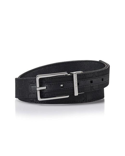 CALVIN KLEIN 205W39NYC - Black Logo Jacquard Reversible Belt for Men - Lyst
