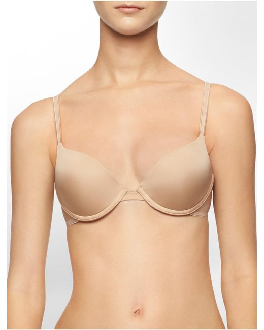 Calvin Klein | Natural Underwear Essentials Push-up Bra | Lyst