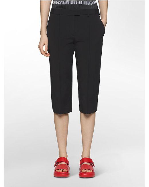 Calvin Klein - Black Platinum Platinum Stretch Skinny Capri Pants - Lyst