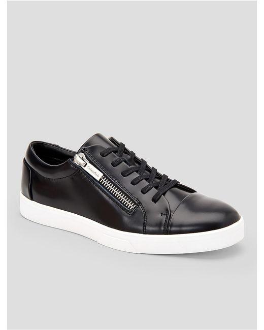 Mens Calvin Klein Igor Sneakers Black/Black Leather/Smooth SUM44401