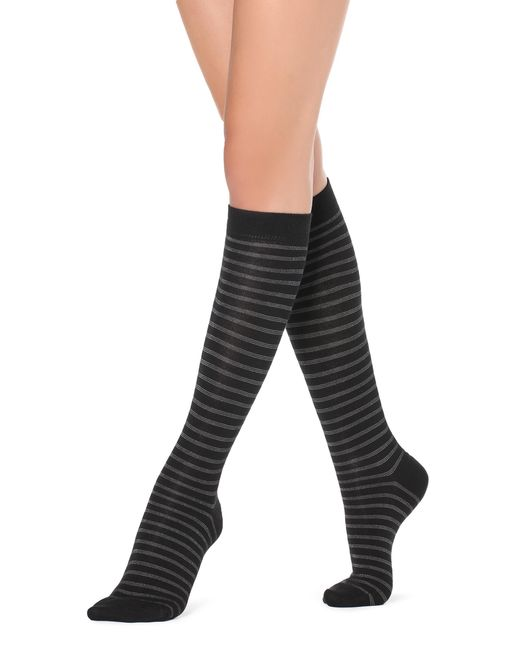 Calzedonia - Black Tall Patterned Socks - Lyst
