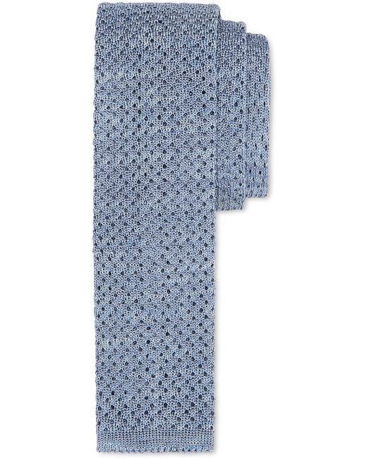 Canali - Light Blue Silk-linen Knit Tie With Polka Dots for Men - Lyst