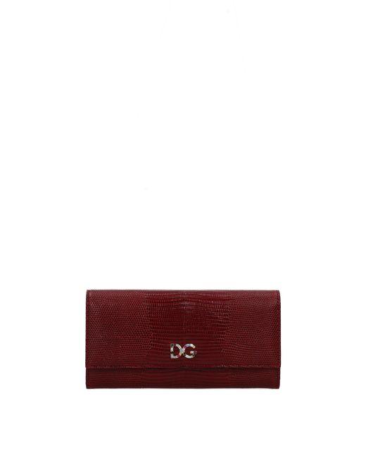 Dolce & Gabbana Wallets Women Red