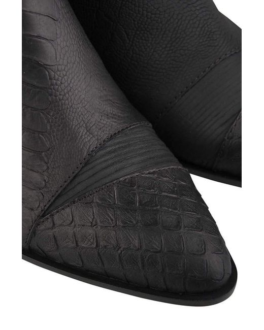 09228c9ab1875 ... Giuseppe Zanotti - Black Kevan Alligator Print Ankle Boots - Lyst ...