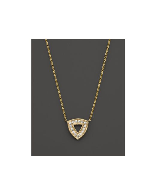 Dana Rebecca | Metallic 14k Yellow Gold Emily Sarah Necklace With Diamonds, 16"
