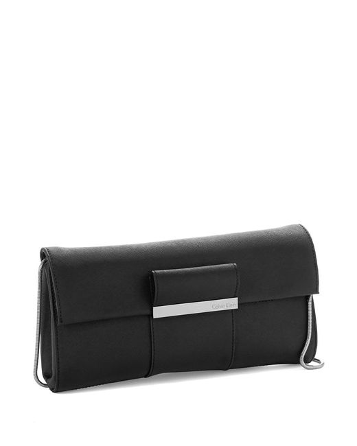 Calvin Klein | Black Colorblock Clutch | Lyst