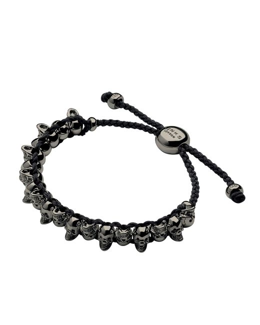Links of London | Black Skull Friendship Bracelet | Lyst